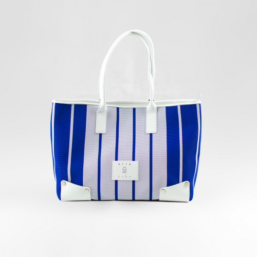 Aurora Shopping Bag Blu Righe